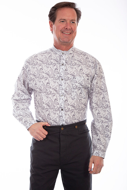 Scully Large Floral Print-White