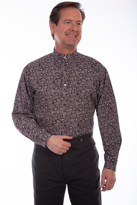 Scully Paisley Print-Brown