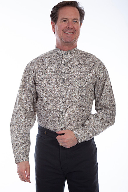 Scully Paisley/Floral Print-Brown