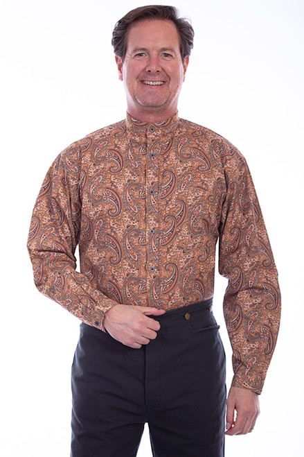 Scully Bold Paisley-Brown