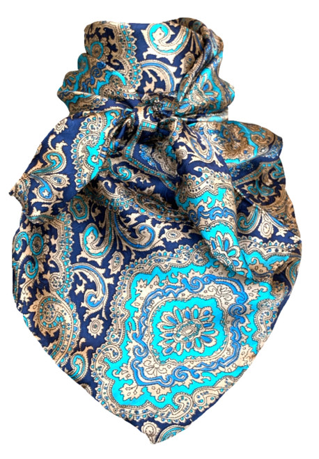 Paisley Blue and Gold
