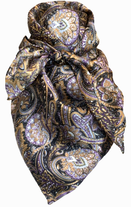 Paisley Navy (Black) and Brown