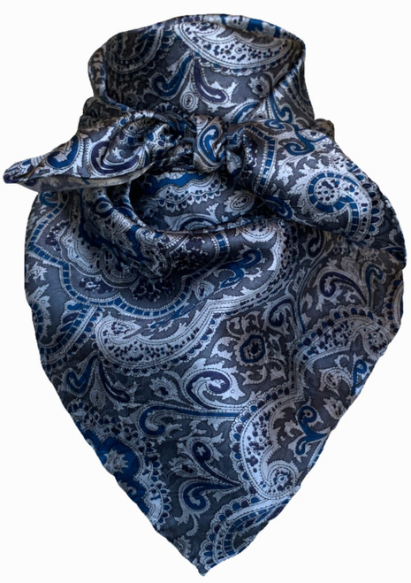 Paisley Blue and Silver
