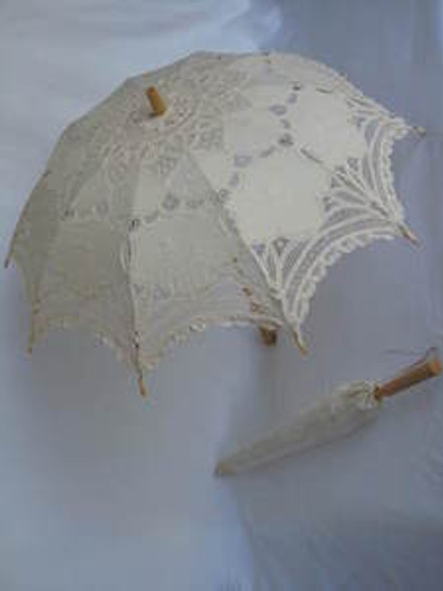 Battenburg Lace Parasol Ecru
