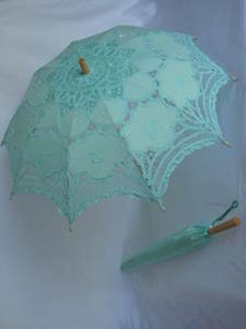 Battenburg Lace Parasol Green