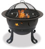 Blue Rhino UniFlame 30 Inch Diameter Bronze Fire Pit with Stars and Moons