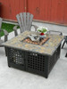 Blue Rhino LP Gas Outdoor Firebowl with Slate/Marble Mantel 2