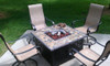 Blue Rhino LP Gas Outdoor Firebowl with Slate/Marble Mantel 7