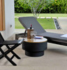 Fire Sense Well Traveled Living HotSpot Solid Base Revolver Fire Pit w/ Wooden Top 1