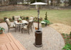 "TFPS Patio Heaters 87'"" Hammered Bronze Patio Heater with Table - TFPS-HLDS01-CGT"