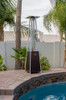 """TFPS Patio Heaters 91"""" Tall Commercial Triangle Glass Tube Heater - Hammered Bronze Patio Heater - TFPS-HLDS01-GTHG"""