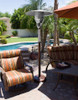 """TFPS Patio Heaters 85"""" Tall Outdoor Natural Gas Hammered Bronz Patio Heater - TFPS-NG-HB"""