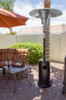 """TFPS Patio Heaters 93"""" Tall Outdoor Commercial Hammered Bronze Patio Heater - TFPS-HLB-2400-BRZ"""