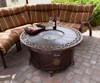 TFPS Round Cast Aluminum Decorative Bronze Fire Pit Table - TFPS-F-1201-FPT
