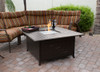 TFPS Square Slatted Aluminum Bronze Fire Pit Table - TFPS-F-1108-FPT