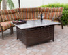 TFPS Rectangle Slatted Aluminum Fire Pit Table - TFPS-FS-1010-T-12