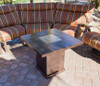 TFPS Square Steel Hammered Bronze Fire Pit Table - TFPS-GSF-PR-PC
