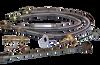 """Warming Trends Crossfire Manual Lit System 290K BTU Natural Gas or LP Burner 36"""" Plate - Fittings Flex hose"""