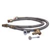 """Warming Trends Crossfire 450K BTU Burner System Natural Gas or LP 60"""" Plate - Fittings Flex Hose"""