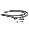 "Warming Trends Crossfire 250K BTU Linear Brass 56"" Burner System - Pan - Key Valve Kit  Dual 34"