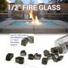 1/2 inch Black Reflecting Premium Fire Glass size