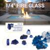 1/4 inch Cobalt Reflecting Premium Fire Glass5