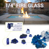 1/4 inch Pacific Blue Reflecting Premium Fire Glass 4