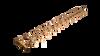 "Warming Trends Crossfire CFBT470 - 8"" x 69.5"" Tree-Style Brass Burner System"