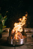 Fire Pit Art Fire Surfer 30 inch Stainless Steel Wood Burning Fire Pit - 10046