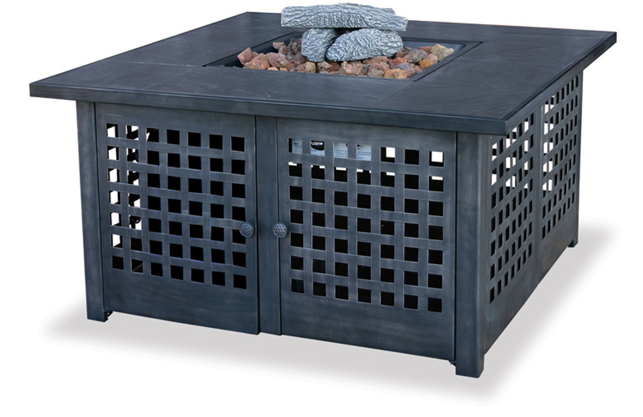 Blue Rhino Uniflame Lp Propane Gas Fire Pit With Tile Mantel Gad920sp The Fire Pit Store