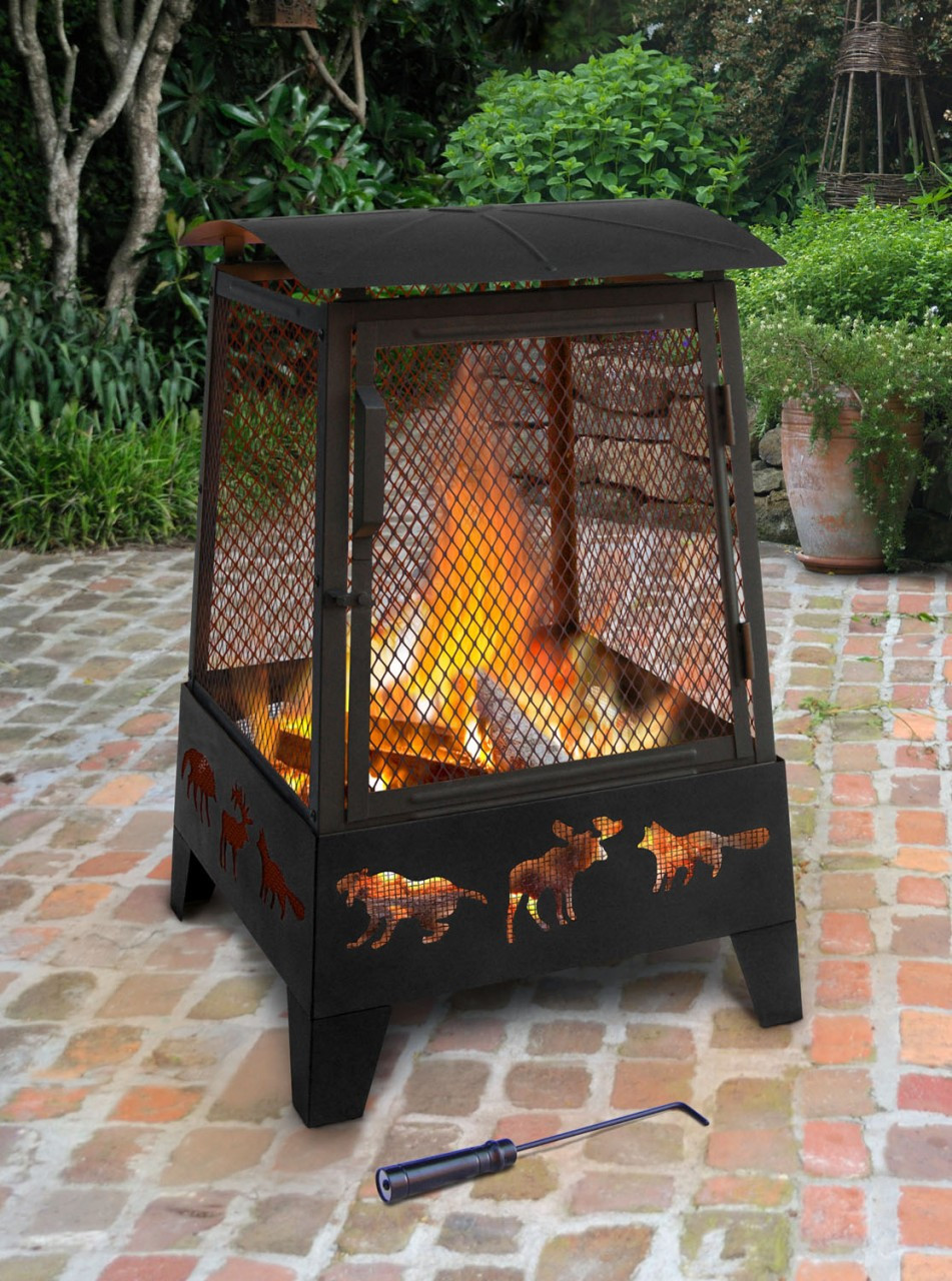 Landmann Haywood Wildlife Sturdy Steel Fire Pit 25319 The Fire Pit Store