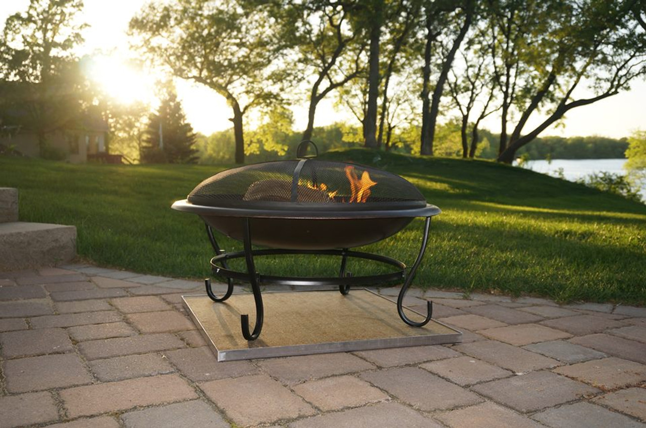 Deck Protect 36 Inch By 36 Inch Fire Pit Pad And Rack Dp4002 The Fire Pit Store