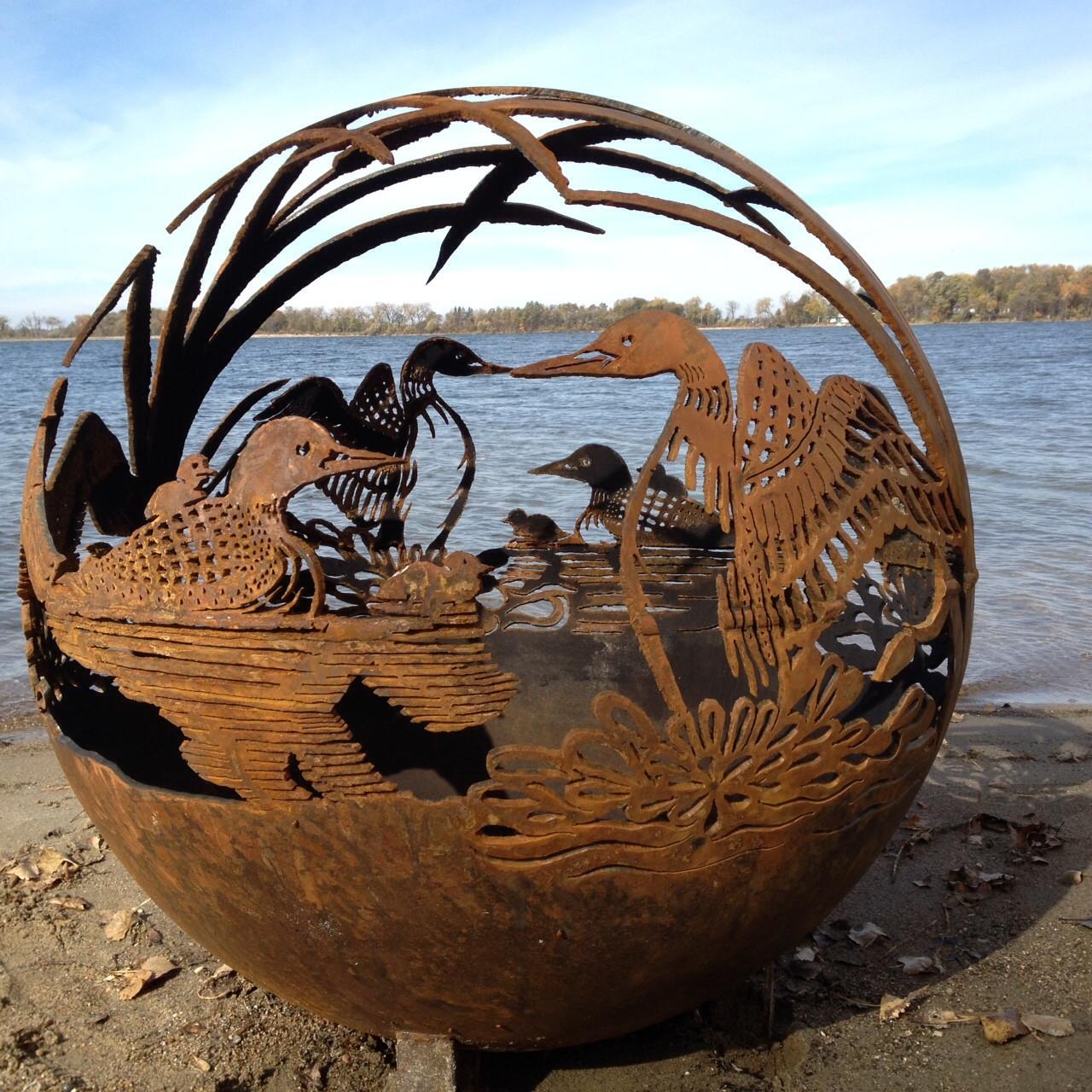 Fireball Fire Pits - Loon - 37.5 inch Fire Globe - Fireball Fire Pits - Loon - 37.5 Inch Fire Globe - 3715DL - The Fire