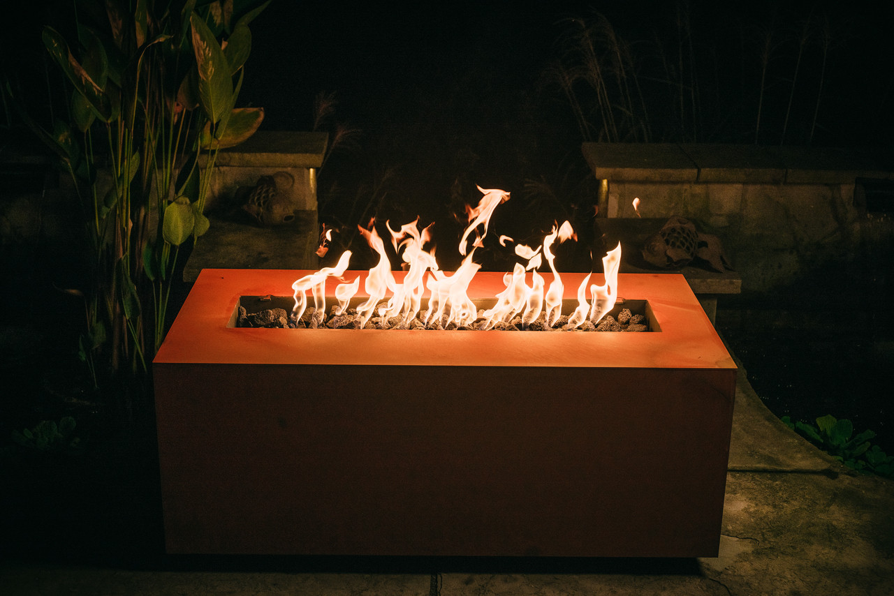 Fire Pit Art Linear 48 Inch 150k Natural Gas Or Propane Fire Pit The Fire Pit Store
