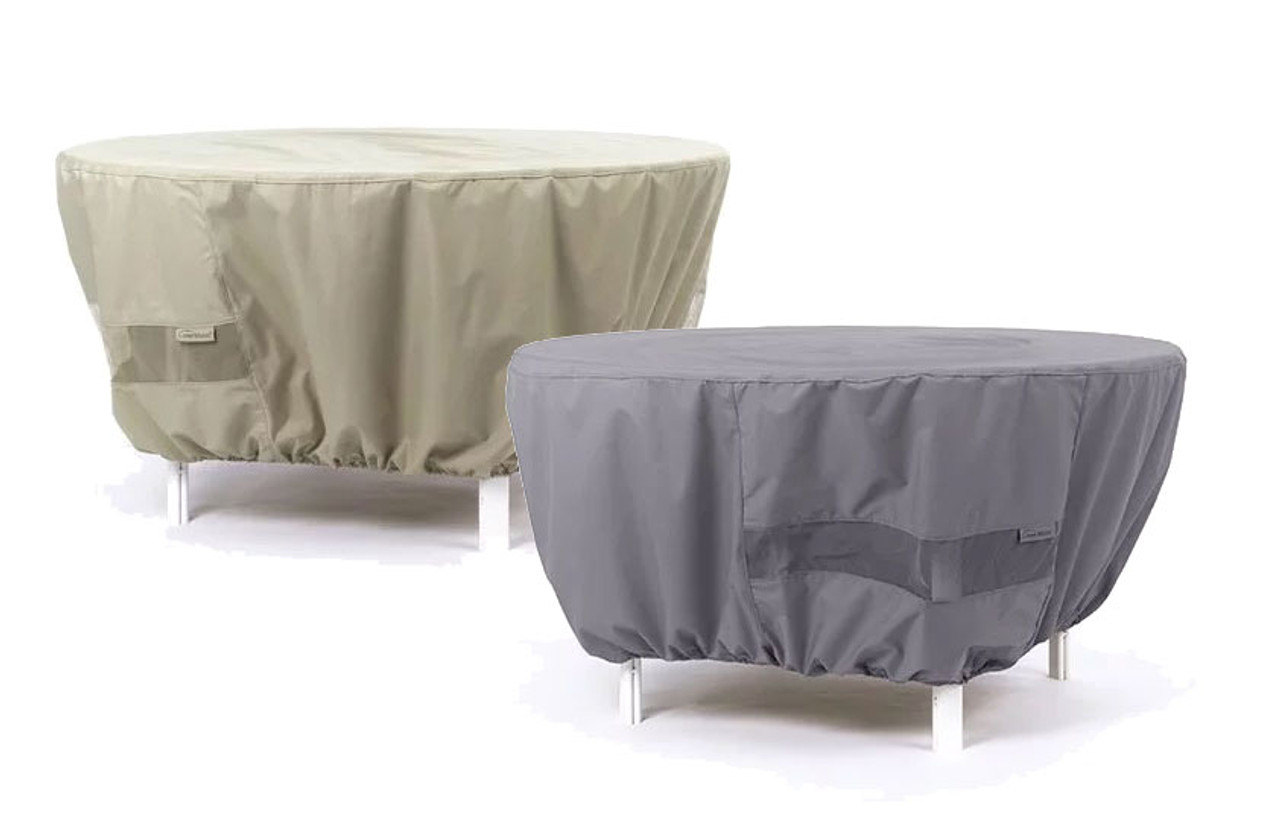 Prime Round Fire Pit Cover Durable Khaki Or Charcoal 60 Inches X 30 Inches 420 Ibusinesslaw Wood Chair Design Ideas Ibusinesslaworg