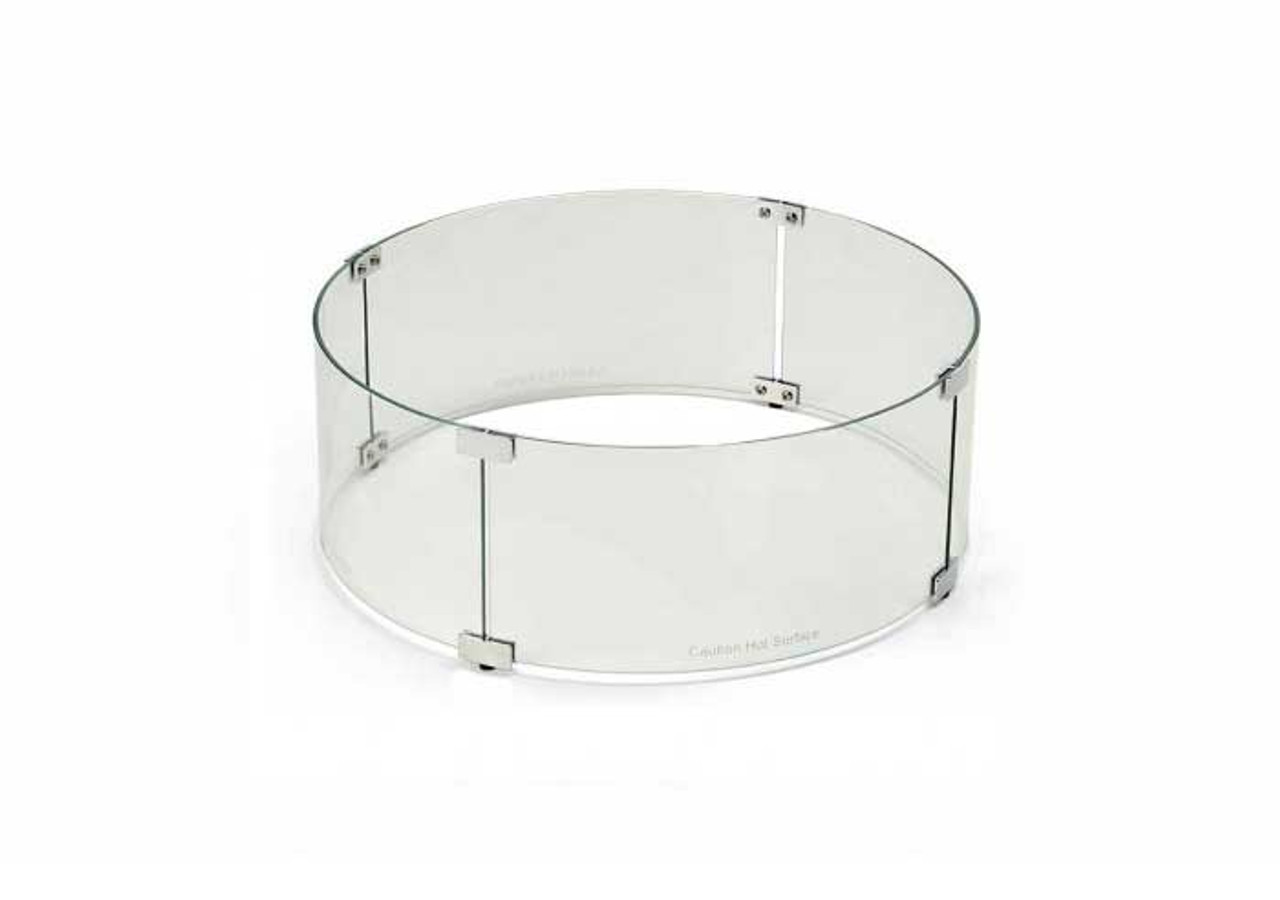 Fire Pit Glass Wind Guard Round 48 Inch By Hpc Wg48 Rd The Fire Pit Store