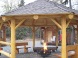Fire Pit Safety With a Gazebo or Pergola