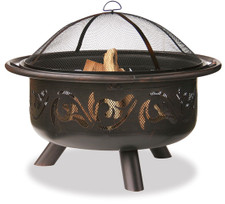 Blue Rhino UnFlame Oil Rubbed Outdoor Fire Pit with Swirl Design