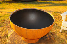 """Fire Pit Art Crater 37"""" Fiery Craters Of The Earth's Volcanic Depths - CTR"""