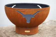 "Fire Pit Art 36"" Long Horn - The Heart Of Texas"