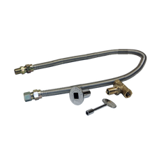 """Flex Line and 1/2"""" Key Valve with Key for Gas Burners"""
