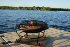 Deck Protect 16 inch by 16 inch Fire Pit Pad and Rack
