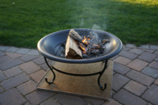 Deck Protect 30 inch by 30 inch Fire Pit Pad and Rack