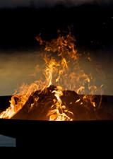 "Fire Pit Art 30"" Low Boy - Low Minimalist Retro Fire Pi"