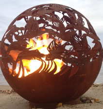 Fireball Fire Pits - Ducks - 37.5 inch Fire Globe