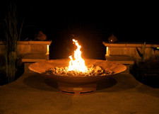 "Fire Pit Art Asia 60"" Natural Gas or Propane Fire Pit"