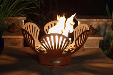 "Fire Pit Art Barefoot Beach 36"" Natural Gas or Propane Fire Pit"