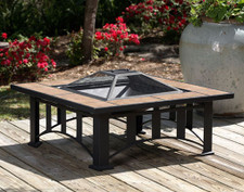 Fire Sense Well Traveled Tuscan Tile Mission Style Square Fire Pit