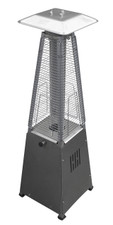 "TFPS Patio Heaters 39"" Tall Table Top Glass Tube Heater - Stainless Steel Patio Heater - TFPS-HLDS032-GTTSS"