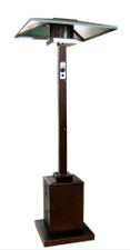 "TFPS Patio Heaters 91"" Tall Outdoor 91"" Tall Commercial Hammered Gold Patio Heater - TFPS-HS-HG"